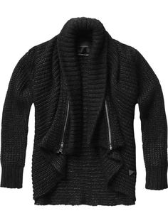 Relaxed fit cardigan with zip details - Sweats - Scotch & Soda