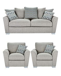 Maya Three Seater Sofa plus Two Chairs