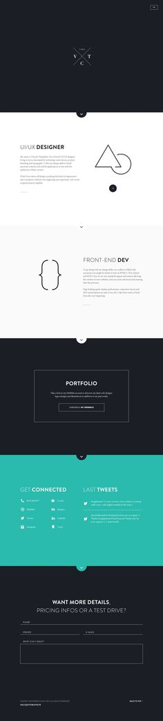 Personal website by Vincent Tantardini, via Behance