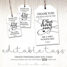 Sports Birthday Party Editable Gift Tags Labels Printable Stickers