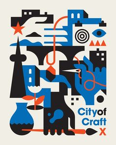 City of craft poster design layout