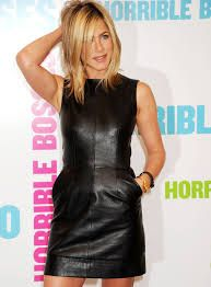 jennifer aniston leather dress - Google Search
