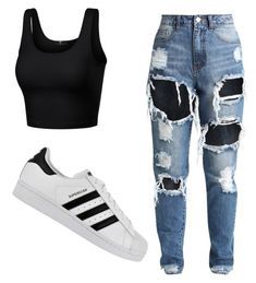 """""""..."""" by j0rrddaann on Polyvore featuring adidas"""