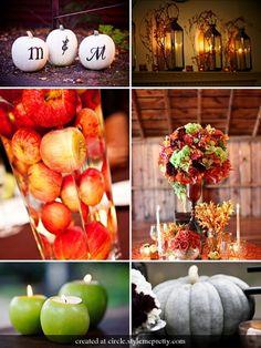 Cheap Table Centerpieces on Fall Wedding Centerpieces   Wedding Colors