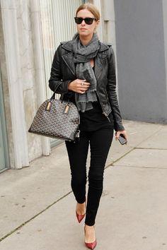 Nicky Hilton does all black with ease. Wardrobe Basics, Wardrobe Staples,  Goyard Bag 4906f40f43