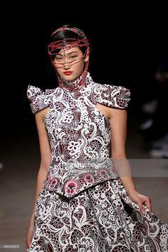 Designer Nadir Tati Fall/Winter 2016/2017 collection during the Lisbon Fashion Week on March 11, 2016 in Lisbon, Portugal.