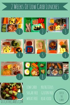Take a look at 2 weeks of low carb whole food lunch ideas - superb! | ditchthecarbs.com via @ditchthecarbs
