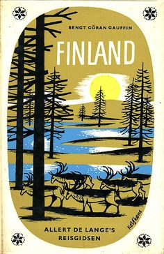 Finland - vintage book cover design. Via Grain Edit.