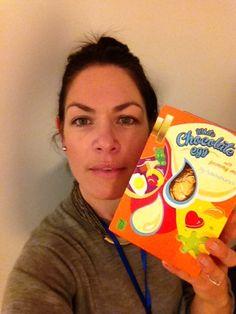 Rebecca, our Senior Marketing Exec, gives an extra egg for Easter... and an #eggselfie #heartextraegg