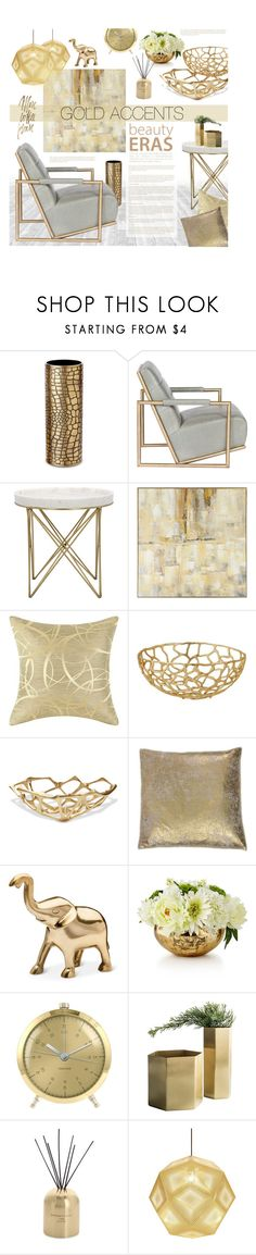"""""""Gold Home Accents"""" by ellergy ❤ liked on Polyvore featuring interior, interiors, interior design, home, home decor, interior decorating, L'Objet, Pier 1 Imports, Tom Dixon and Threshold"""