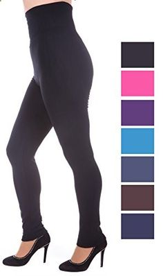 X&Z Fashion fleece lined leggings high waist thick slimming compression top solid  Go to the website to read more description.