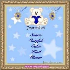 September - Zodiac and Birth Month | Jewels Art Creation