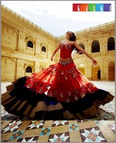 Red Lengha #lengha #indian #fashion #wedding #bridal #red #southasian see more inspiration @ http://www.ModernRani.com