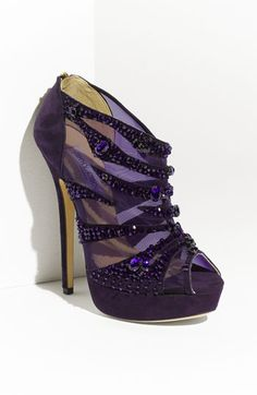 Jimmy Choo 'Kiln' Crystal Embellished Mesh & Suede Bootie - oh yes just my colour hehehe Dream Shoes, Me Too Shoes, Fancy Shoes, Jimmy Choo, Hot Shoes, Shoes Heels, Pumps, Suede Booties, Wedges