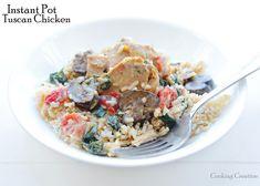 Instant Pot Tuscan Chicken over Rice Chicken Over Rice, Tuscan Chicken, Instant Pot, Larger, Eat, Cooking, Breakfast, Food, Cuisine