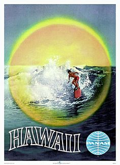 Pan Am Vintage Hawaiian Poster