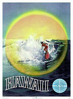 Pan Am Vintage Hawaiian Poster