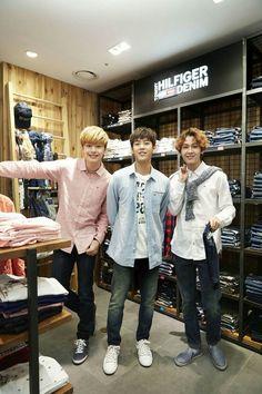 When you go shopping with your kids  #ForeverEommaMinkyuk Sungjae, Minhyuk and ilhoon BTOB