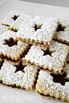 Hazelnut Nutella Linzer Cookies