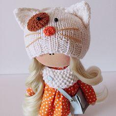 #tilda#home#doll#handmade#orange #cat#babygirl #blythe #sell