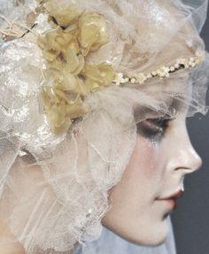 #galliano #bridal #veil #headpiece