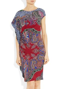 Etro | Ruched printed crepe dress | NET-A-PORTER.COM