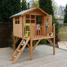 pics of playhouse on stilts | The Mercia Tulip Tower Playhouse is a cute childrens wooden playhouse ...