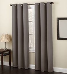 """No. 918 Montego Casual Textured Grommet Curtain Panel, 48"""" x 84"""""""