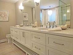 Super-Long Vanity - 18 Savvy Bathroom Vanity Storage Ideas on HGTV