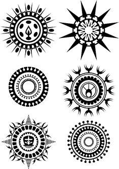 simple tribal circle tattoo - Google Search