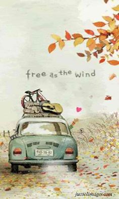 free as the wind Love this illustration! Illustrations, Illustration Art, Urbane Kunst, On The Road Again, Decoupage, Creations, Sketches, Adventure, My Favorite Things