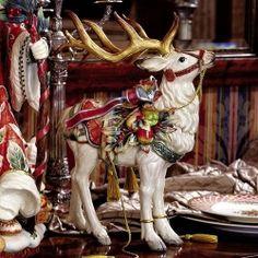 Vintage de porcelaine LEFTON Deer bébé renne Noël Figurine sel et ...