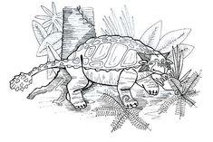 Ankylosaurus, : Ankylosaurus Under the Tree Coloring Page Tree Coloring Page, Online Coloring Pages, Coloring Sheets, Colour Images, Doodle Art, Folk, Doodles, Colouring Sheets, Popular