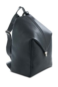 Valextra Waterproof Black Leather Backpack Fall /Winter 2014/2015