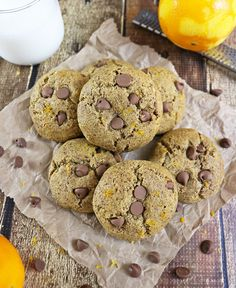 Healthy Orange Chocolate Chip Protein Cookies