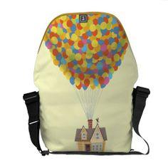 Disney Pixar UP Balloon House Pastel Messenger Bag , Up Pixar, Disney Pixar Up, Disney Land, Balloon House, Balloon Shop, Up Balloons, Ipad Sleeve, Beautiful Bags, Travel Bag