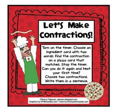 Pitner's Potpourri - freebie matching contractions