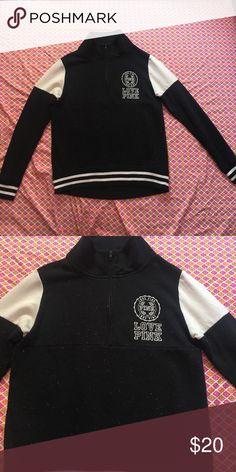 Pink sweatshirt Pink black and white sweatshirt size XS PINK Victoria's Secret Tops Sweatshirts & Hoodies