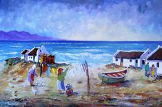 Art Painting by Louis Pretorius includes Washing Done, this example of Landscape Art has inspired this exceptionally talented artist. View other Paintings by Louis Pretorius in our Online Art Gallery. Love Painting, Oil Painting On Canvas, Canvas Art, Landscape Art, Landscape Paintings, Seascape Paintings, Watercolor Paintings, Fishermans Cottage, Original Art