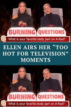 """Ellen Airs Her """"Too Hot For Television"""" Moments Celebrity Couples, Celebrity Gossip, Celebrity News, Celebrity Style, Luke Benward, 19 Kids And Counting, Burning Questions, Big Music, Important People"""