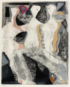 """MARINI, Marino (1901 Pistoia- 1980 Viareggio) """"Drei Grazien"""", 1975 Radierung mit farbiger Aquatinta, vom Künstler handsigniert, re. unten signiert Marini und links unten nummeriert XI/XXV, WVZ 329, unter Glas gerahmt, Mit Expertise von Emil Ruf, Galerie Ruf, München vom 16.03.2010 Rahmen: H= 84,0 B= 64,0cm Grafik: H= 80,5 B= 60,5cm    Dealer  Gut Bernstorf    Auction  Minimum Bid:  3600.00EUR"""
