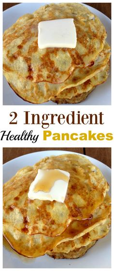 These 2 Ingredient Pancakes are so easy, healthy, filling and delicious!