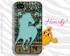 Horse iPhone Case Cover 4 & 5 Samsung s3 s4 Vintage Damask Teal on Etsy, $19.98