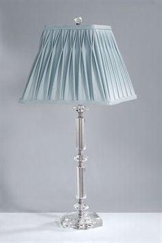 Laura Ashley SSF112 BTC005 Scarlett Table Lamp, Satin Nickel