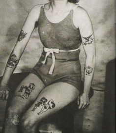 """First steps to becoming a """"tattooed lady"""" I am thinking..."""