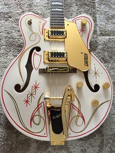 Guitar case is covered with many stickers but it is in great shape and is original Gretsch, hard shell case. This Gretsch plays wonderful with great action. Your chance to own a custom beauty. This guitar is a dream. | eBay!