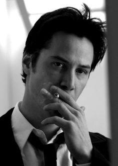 Keanu Reeves.....smoking....hot....