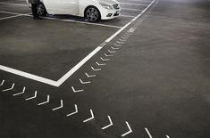 Forum W-1 Wandsbek | nowakteufelknyrim Web Banner Design, Sign Board Design, Web Design, Graphic Design, Parking Space, Parking Lot, Car Parking, Parking Design, Signage Design