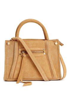Замшевая сумка через плечо - Горчичный - | H&M RU 1