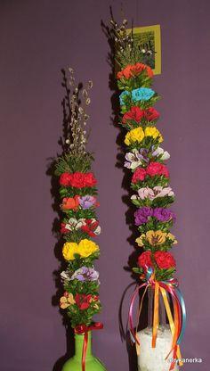 Kwiaty z bibuły - palma wielkanocna; Easter Palm
